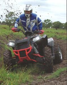 Going through mud