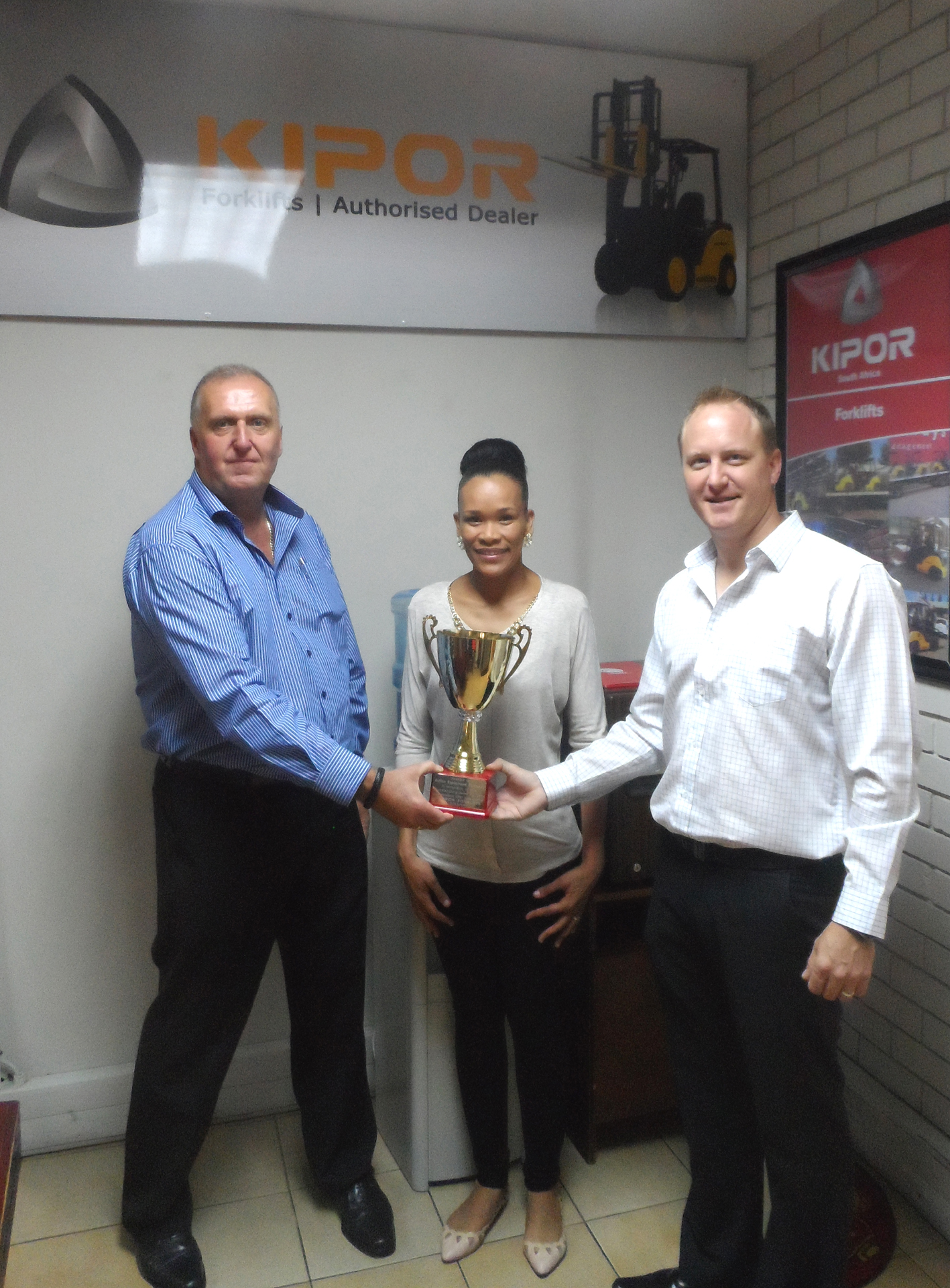 Left to Right: Garry Davies (Operations Director - Action Equipment Company) Yolanda Jeffries (Marketing Manager - Action Equipment Company) Tom Bloom (General Manager - Kipor South Africa, imported and distributed by Smith Power Equipment)