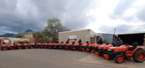 Part of Giraffe Farms' Kubota Fleet