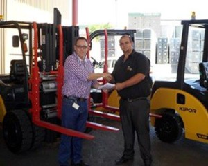 Lubbe Group Handing over Modified Kipor Forklift