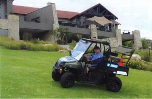 Albert driving his Polaris 570 in Turf Mode