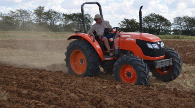 Kubota Power ploughing