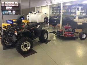 Linhai 300 4x4 with Sprayer and Mower