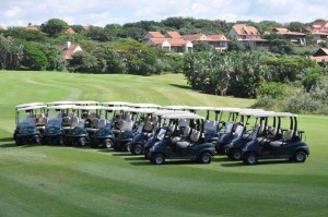 Zimbale (17): Zimbali Country Club recently took delivery of 60 Precedent i2 golf carts from Modern Mowers Durban branch.