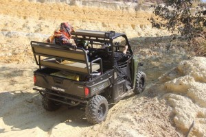 Polaris Ranger 570 with Game Viewer Kit