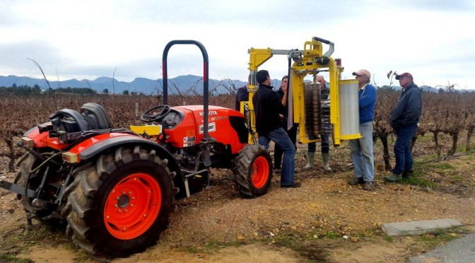 Kubota Narrow-width tractors and pre-pruner a hit in vineyards