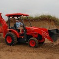 Lady in Kubota L45