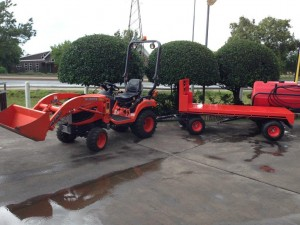BX25 with trailer and loader