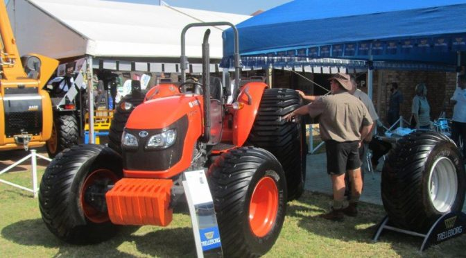 Kubota M9540 with Turf Tyres