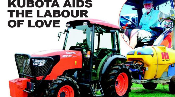 Kubota aids the labour of love