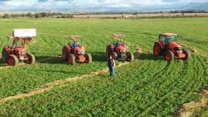 Kubota M-Series on his farm
