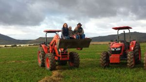 Kubota with the Copeman Family in Cradock