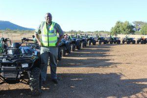 Moses Mokone with his Linhai