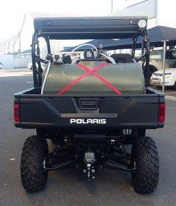 Tank on back on Polaris Ranger 570