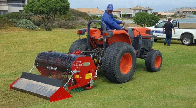 Verti-Drain does holy work at Langebaan