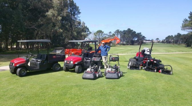 Hermanus Toro and Kubota Equipment on course