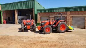 Two Kubota M8540 standard tractors