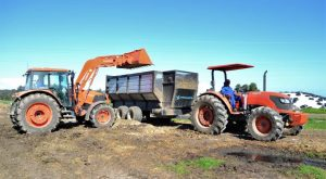 Kubota M130x and M9540 with Trailer