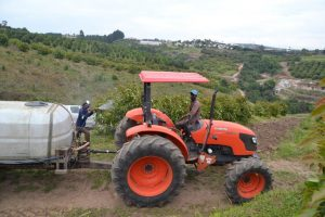 Sipho Mbatha with his Kubota M9540 Open Station Tractor