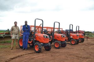 Francois Kriel with his kubota