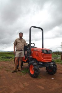 Francois Kriel with his kubota at his farm