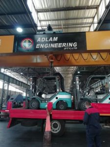 Delivery of Baoli Forklifts to Adlam Engineering